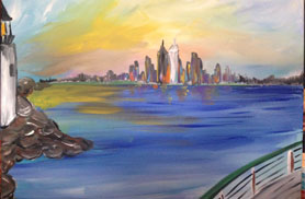 paint the Boston Skyline